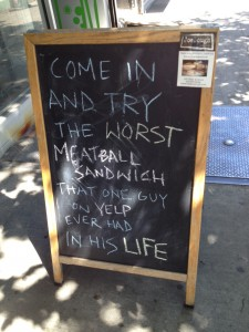 Sandwich Board Yelp Pic